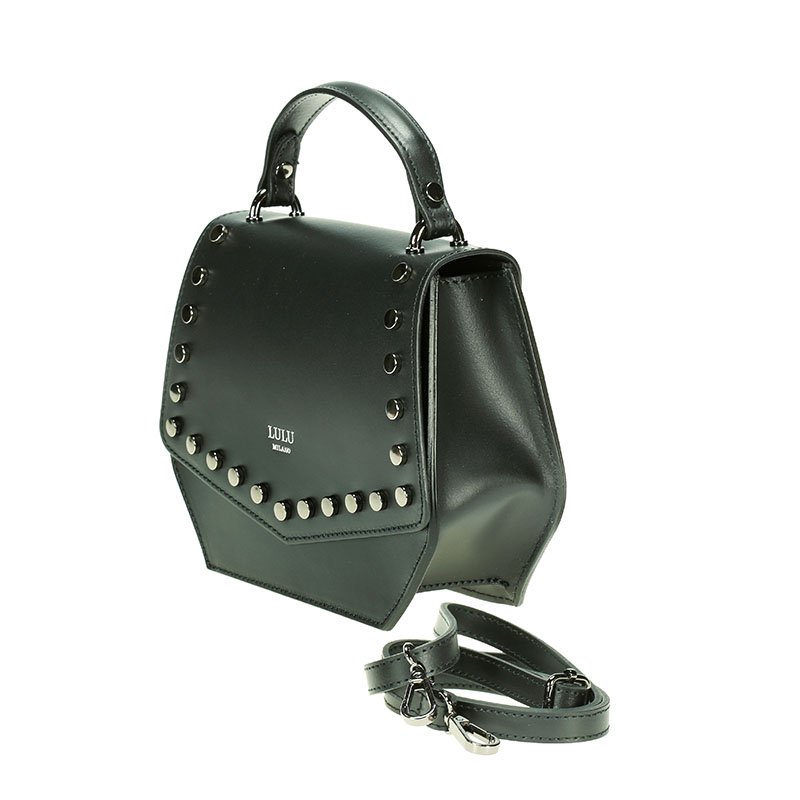 lulu milano Genuine leather   smooth leather shoulder bag  made in Italy 85285-s 3