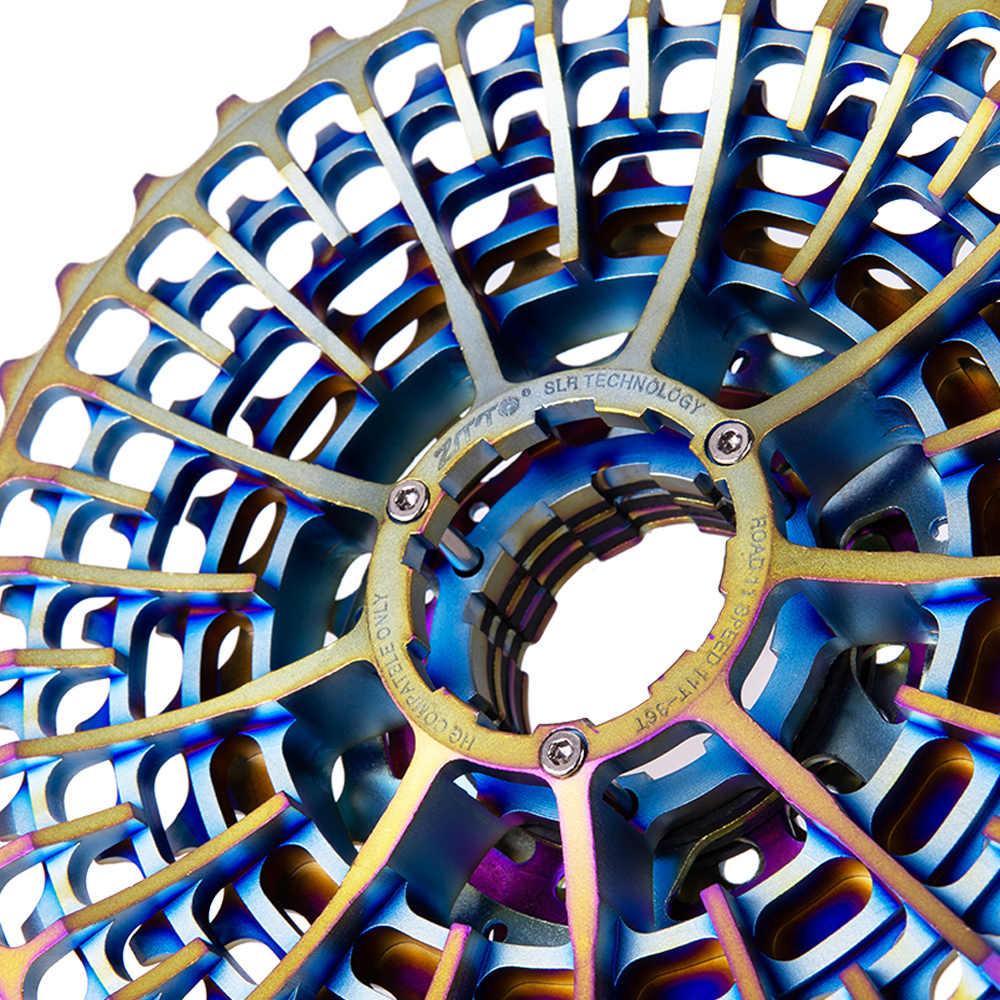 Ztto bicicleta de estrada 11 velocidade slr colorido cassete ultraleve 11-28 t cascalho bicicleta 11-36 t 11 velocidade 11-34 k7 11 v 11-32 cnc
