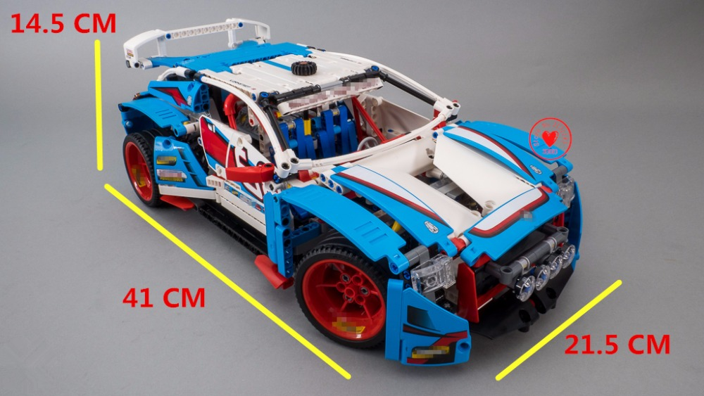 NEW Technic Genuine Rally Car fit legoings Technic city model Building Blocks Bricks Toy fit 42077 gift kids set city