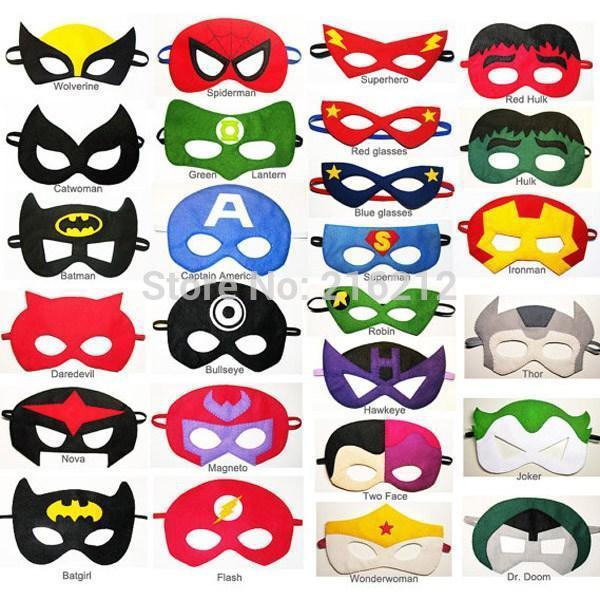 new super hero mask kids eyemask cosplay superman mask batman cosplay mask captain america spiderman kids