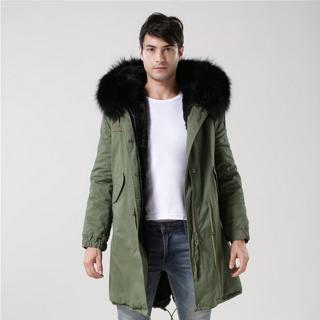 2016 New Arrival Fashion Men Winter Thick Fur Collar Faux Fur ...