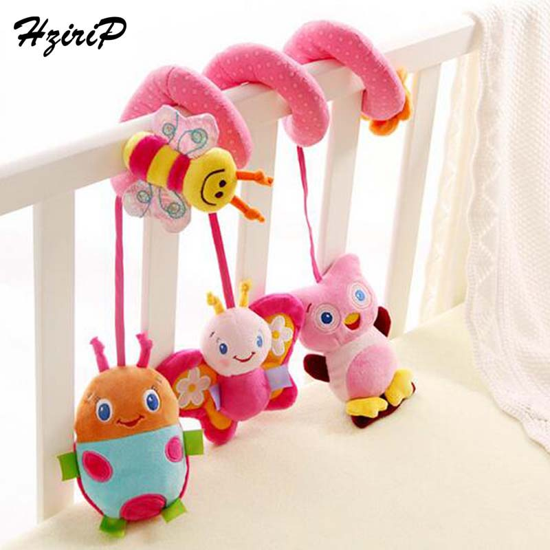 New High Quality Baby Mobile Stroller Bed Hanging Rattles Soft Plush Elephant Beetle Hang Educational Musical Baby Rattle Toys