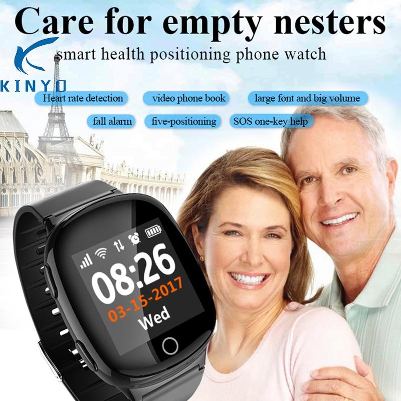 2018 el más nuevo reloj con nano tarjeta LBS SOS GPS smart watch teléfono video libro smartwatch cuidado de los padres salud y seguridad