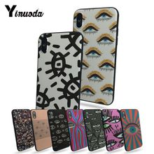 Yinuoda Eyes beautiful phone cases For iphone 7 7plus X 8 8plus And 5 5s 6s Plus Mobile cover