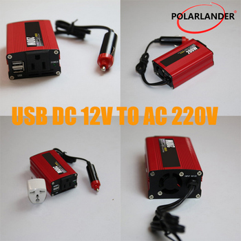 12 v do 220 v falownik 200 W Polarlander falownik samochodowy 12 v 220 v 200 w 50Hz falownik z USB zmodyfikowany falownik sinusoidalny tanie i dobre opinie Dc 12 v Ac 220v±10