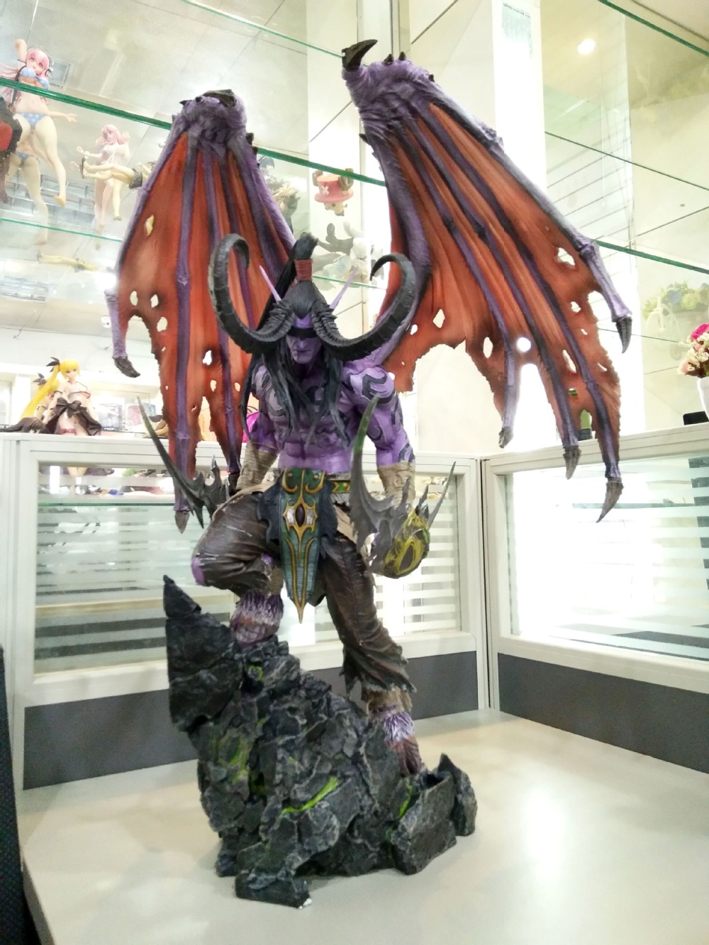 [New] Limited Large size 60cm WOW Illidan gk resin statue figure collection model Original box best gift