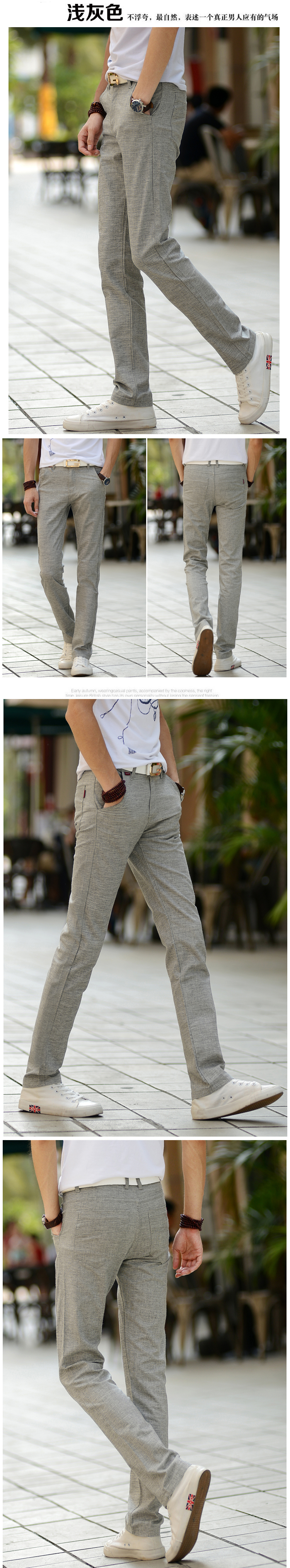 HTB1jVOThuuSBuNjy1Xcq6AYjFXav 2019 New Men Fashion Summer Korea Slim Fit Straight Linen Cotton Thin Business Trousers Pants Male Casual Pants Import Clothes