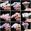 Wedding Crystal Resin Flower Hair pins For Silver Bridal Hair Accessories