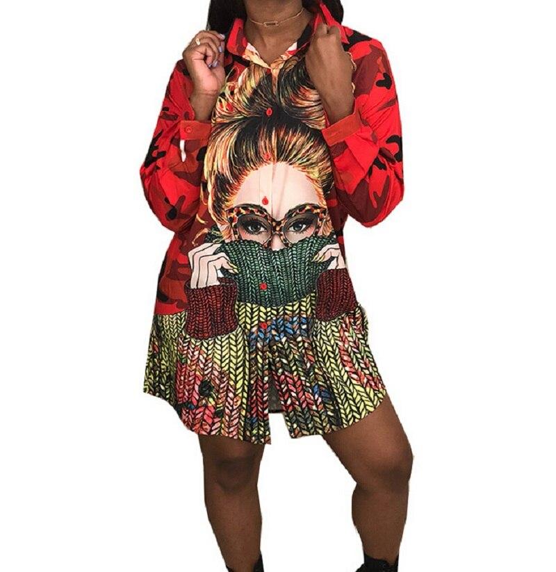 Fashion Women Boho Hippie Printed Long Loose Tops Casual T-shirt Blouse Shirts B