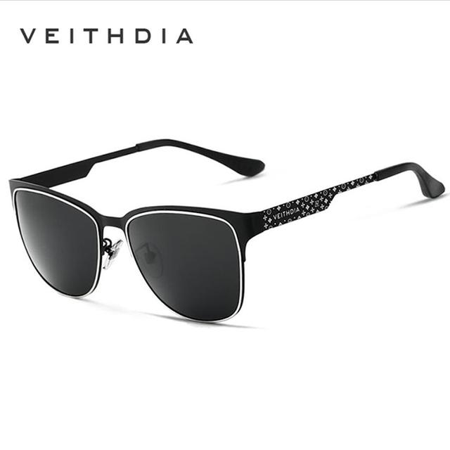 Veithdia óculos de sol dos homens polarizados óculos de condução espelho de condução óculos de sol óculos de revestimento de aço inoxidável para homens/mulheres 3580
