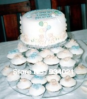 High Quality Custom 3 Tier Acrylic Round Cake Stand In Clear