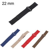 22mm Genuine Leather Loop Band For Samsung Gear S3 Strap Magnetic Clasp Watchbands For Huami AMAZFIT