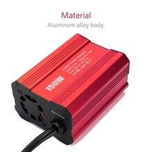 Двойной USB портативный автомобильный инвертор зарядное устройство 150 Вт DC 12 В в AC 110 В/220 В адаптер преобразователя модифицированный синусоидальный инвертор мощности