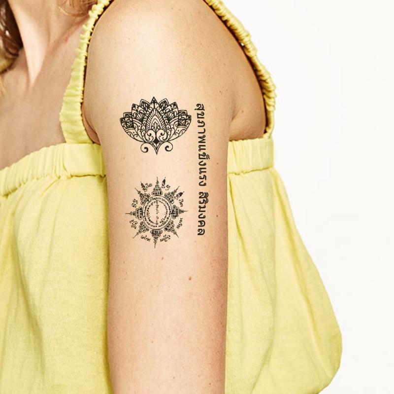 Temporary Black Henna Tattoo: Brand New Fashion Waterproof Temporary Tattoo Sticker