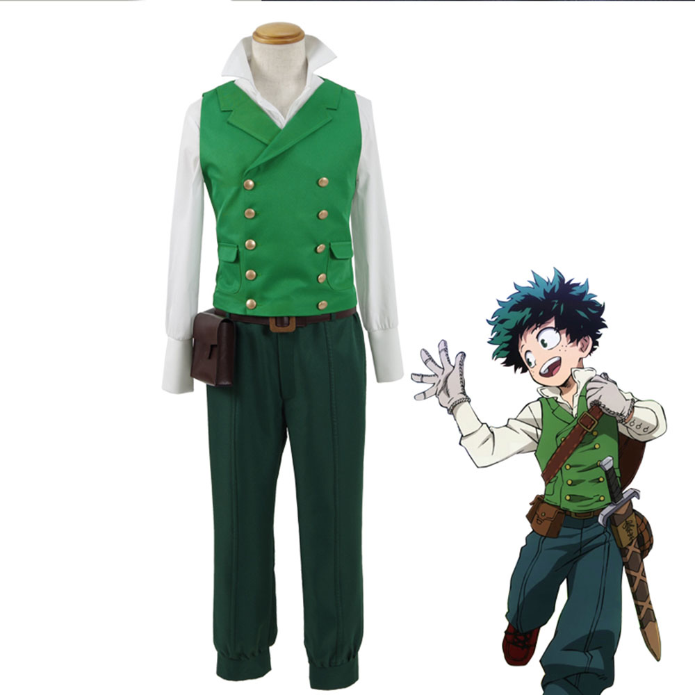 high-quality  My hero college Cosplay Costume Todoroki Shoto Top+Pants+Vest+Bag Full Sets Free Shipping
