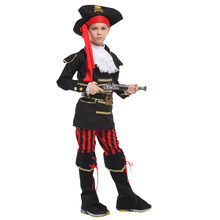 Costume de pirate pour garçon, tenue fantaisie, déguisement d'halloween, de carnaval, pour enfants