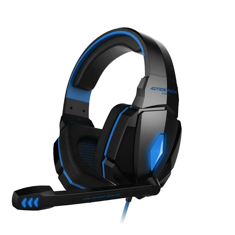 Colorful Stereo Headband Anti-noise Hifi Headphones For Computer Game fones Professional Cool Over-Ear Glow Gaming Music Headset led bass hd gaming headset mic stereo computer gamer over ear headband headphone noise cancelling with microphone for pc game