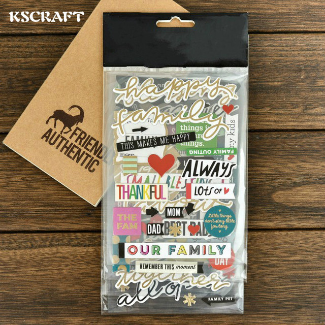 Kscraft our family 3d die cut self adhesive stickers for scrapbooking happy planner card