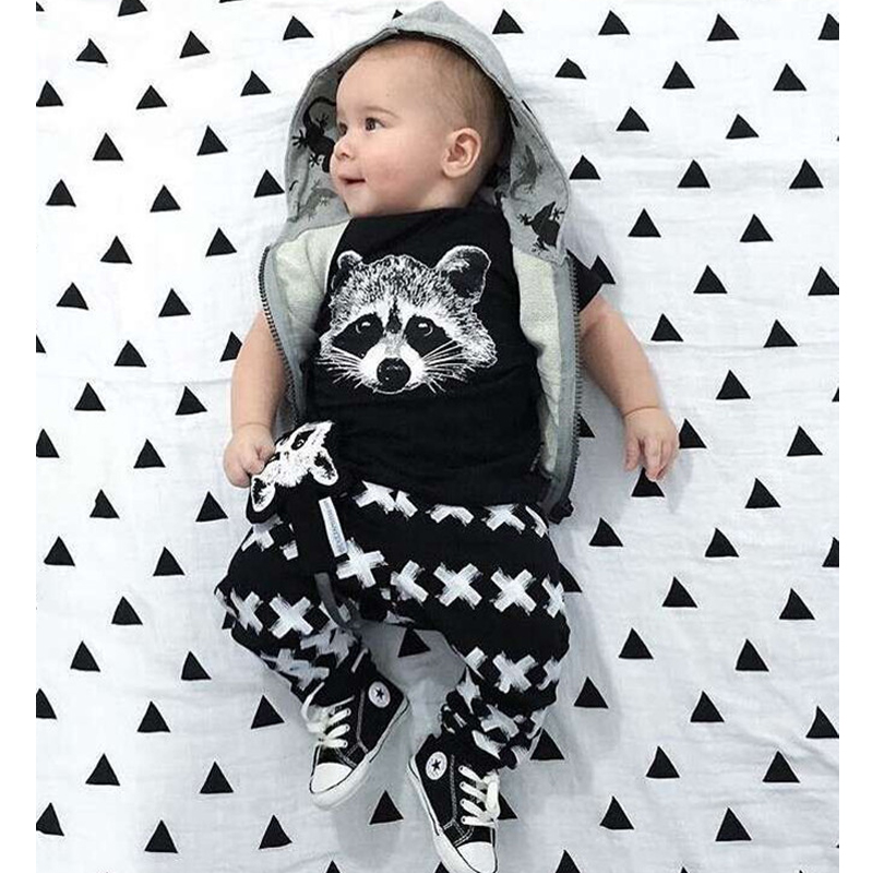 Baby&Kids Fox Cotton Clothing Sets Newborn Toddler Baby Girl Boy 2 Pcs Outfits Set Costume Summer Clothes BodySuit T-shirt Pants цена 2017