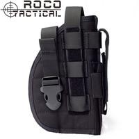 Tactical Universal Gun Holster Right Hand Molle Modular Pistol Holster Combat Airsoft Waist Belt Holster Cordura