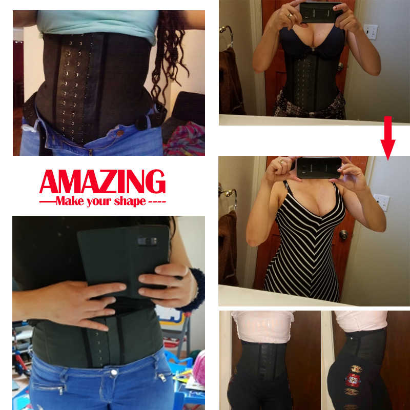 69f364f8ed ... Shapewear Latex Waist Trainer Belt Slimming Waist Cincher Hot Body  Shaper Tummy Trimmer Long Torso Girdle ...
