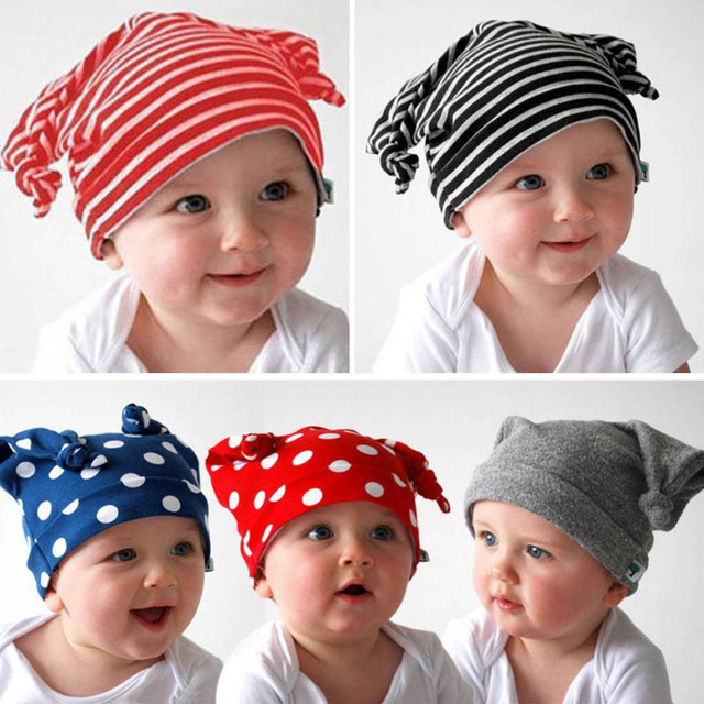 Kids Accessories Baby Boys Girls Hat Children Head Devil Horns Cotton  Beanies Cap Infant Photo Props Panama Hats Skull Elastic 64843bca58a