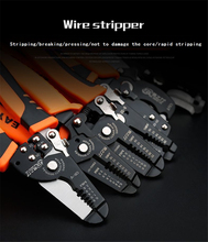 Cable Wire Stripper Automatic Crimping Tool Peeling Pliers Adjustable Terminal Cutter Wire multitool TAB Terminal Crimper цена 2017