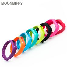 50/100 PCS Colorful Silicone Wrist Strap Bracelet Double Color Replacement watchband for Original Xiaomi Miband2 Wristbands
