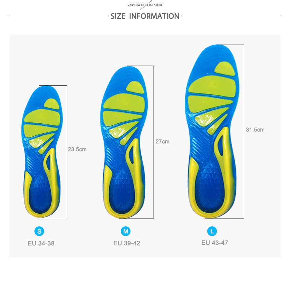 High Quality Silicone Sports insoles details 7