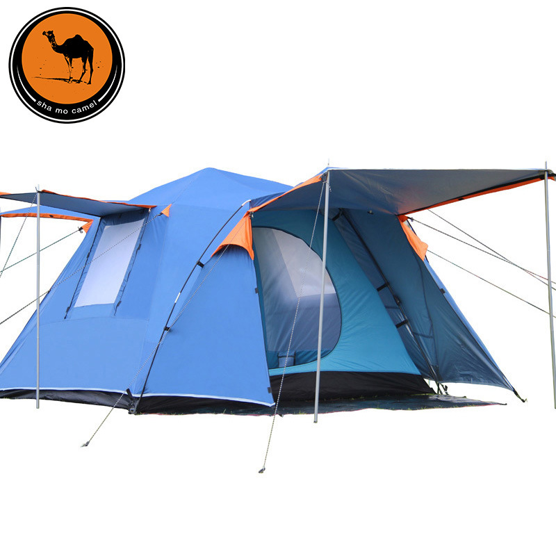 Camel automatic double tent outdoor 3-4 people camping tent tent 088 outdoor double layer 10 14 persons camping holiday arbor tent sun canopy canopy tent