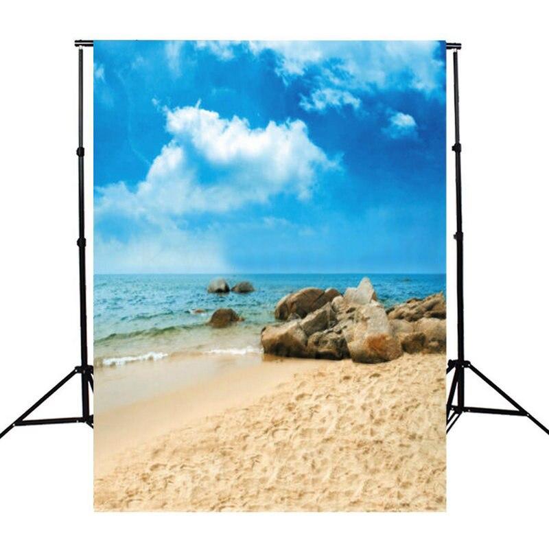 Mayitr High Quality 5x7ft Blue Sky Colorful Photo Backdrop Cloth Beautiful Beach Photography Photo Studio Background blue sky чаша северный олень