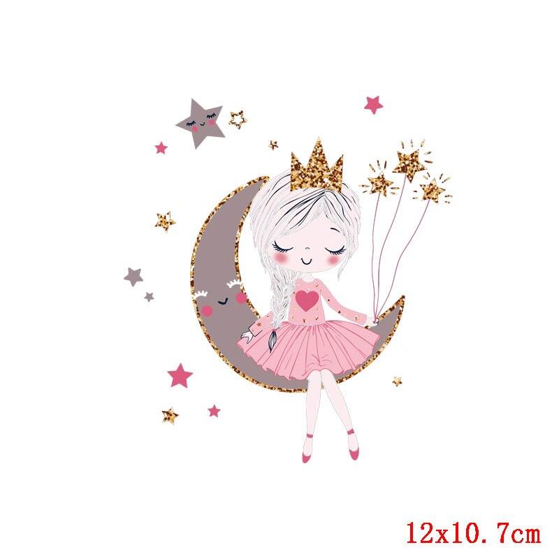 Prajna Красота Девушка глажка наклейки теплообмена винил патч термоутюг на передачу для одежды детская футболка Мультфильм аппликации - Цвет: Антикварная медь