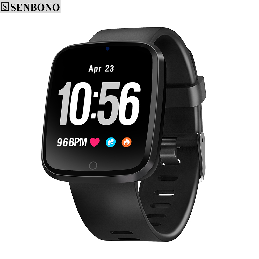 SENBONO V6 Heart Rate Monitor Fitness tracker Blood Oxygen Pressure Smart Band High-definition Screen Weather Forecast Wristband