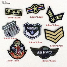 8pcs/lot Army military patches embroidery troops hot melt glue patch f