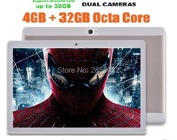DHL Free Android Tablet PC 10 inch Octa Core MTK8752 4GB RAM 64GB ROM GPS Dual Camera 3G Phone 1280*800 IPS Tablet 10