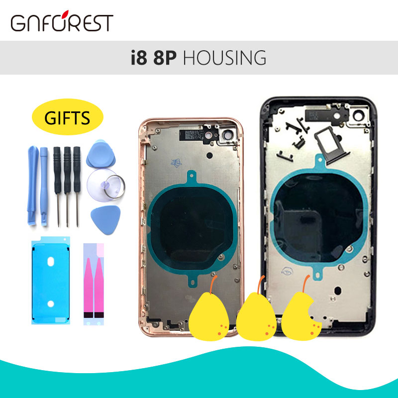 Bezel-Battery Side-Buttons Apple-Chassis 8plus-Housing Middle-Frame Body iPhone 8 Rear-Cover