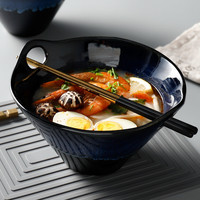 Japanese style Home Decor Tableware soup noodle rice bowl Porcelain dinner bowl