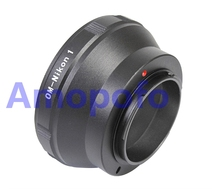 Amopofo OM-N1 Adapter,For Olympus OM Lens to for Nikon 1 N1 J1 J2 J3 J4 J5 S1 V1 V2 V3 AW1 Digicam