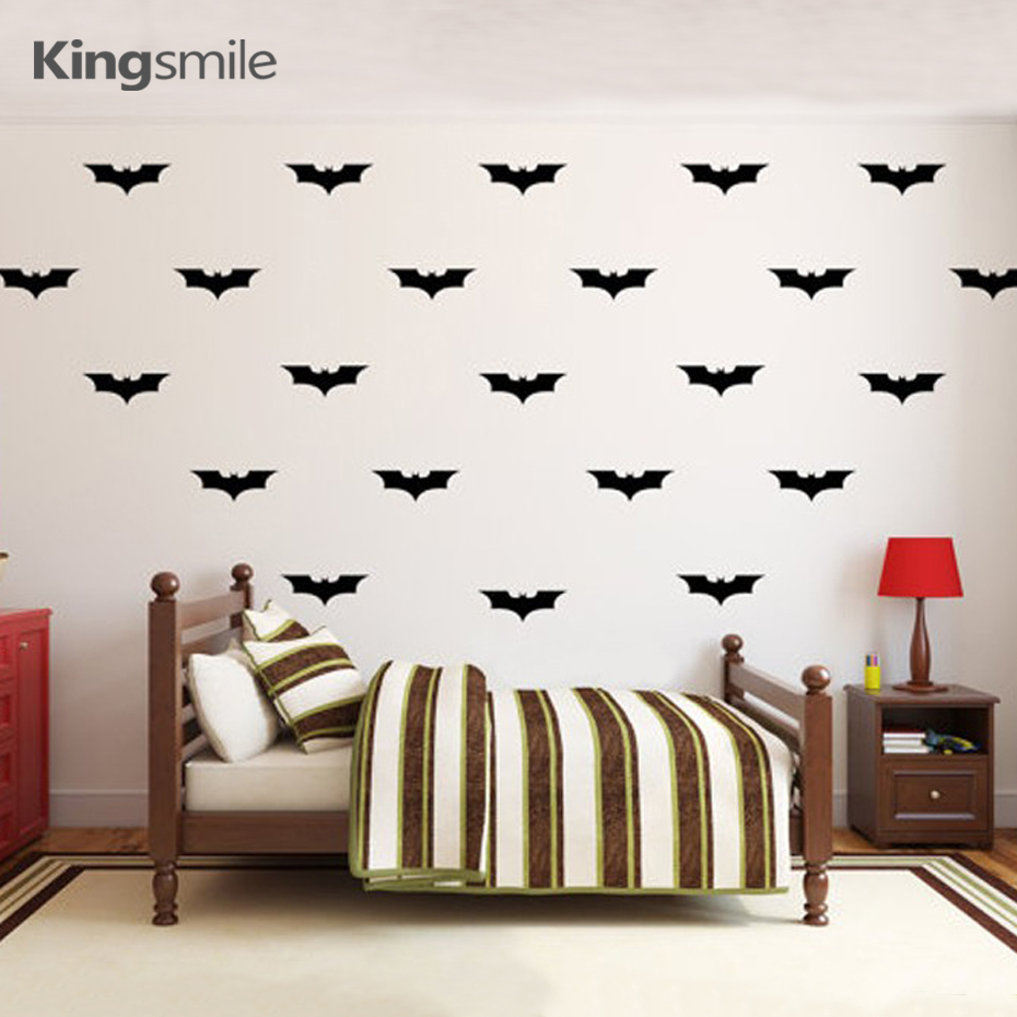 50 Pieces/set Batman Logo Vinyl Wall Decals Nursery 3d Wall Art Stickers  Wallpaper Poster Sticker For Kids Rooms Home Decor