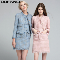 Female Winter Bussiness Work Dress Suits Blazer Womens Office Casual Designs Style Above Knee Length Elegant