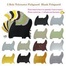 Dopro 5 agujeros Tele Telecaster en blanco Pickguard Scratch Plates con tornillos para Esquire Varios colores