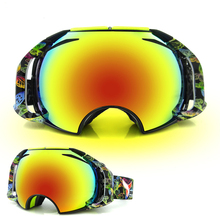 Double-layer Wind-proof Anti-fog Skiing Glasses Snow and Snowboard Climbing Snowmobile Goggles Outdoor Sports Mirror