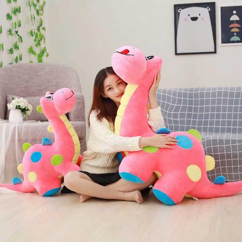 חמוד בפלאש דינוזאור ממולא בובת ספה דינוזאור רך צעצוע ילדים לחבק חיות דינו צעצוע יום הולדת Plushie מתנה ורוד/ירוק /כחול