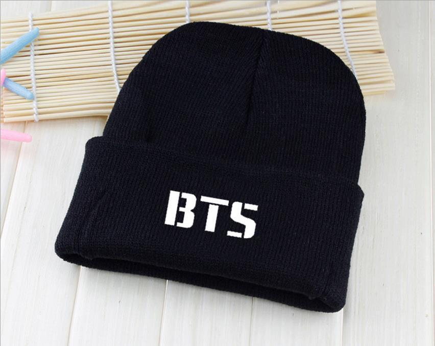 2017 kpop BTS hats wool cap Bangtan Boys with paragraph Harajuku Korean wool cap Couple k-pop bts   Skullies     Beanies   Hedging cap