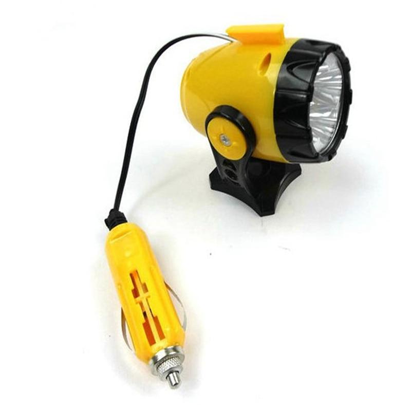 AUTO New Car 12V 5LED Interior LED bulbs Cigarette Lighter Magnetic Emergency Work Troubleshooting Light car styling @015