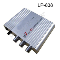 LP-838 Hi-Fi Car Amplifier for Smart phones computers MP3 MP4 DVD players 20WX3RMS Stereo Subwoofer Audio amplifier