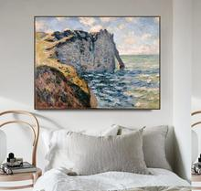The Cliff of Aval, Etrétat by Monet Posters Print Canvas Painting Calligraphy Wall Pictures for Living Room Bedroom Home Decor недорого