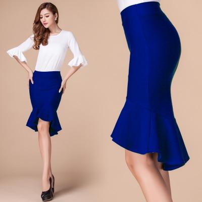 498a1be40 Women Summer Style High Waist Bodycon irregular High Low Midi Skirt Ruffle  Mermaid Fishtail Skirts customize Plus Size 3XS-10XL