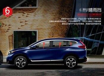 ABS хромированный Пластиковый оконный козырек вентиляционные шторы Защита от солнца и дождя автомобильные аксессуары для Honda CRV CR-V 2017 2018 2019 а...