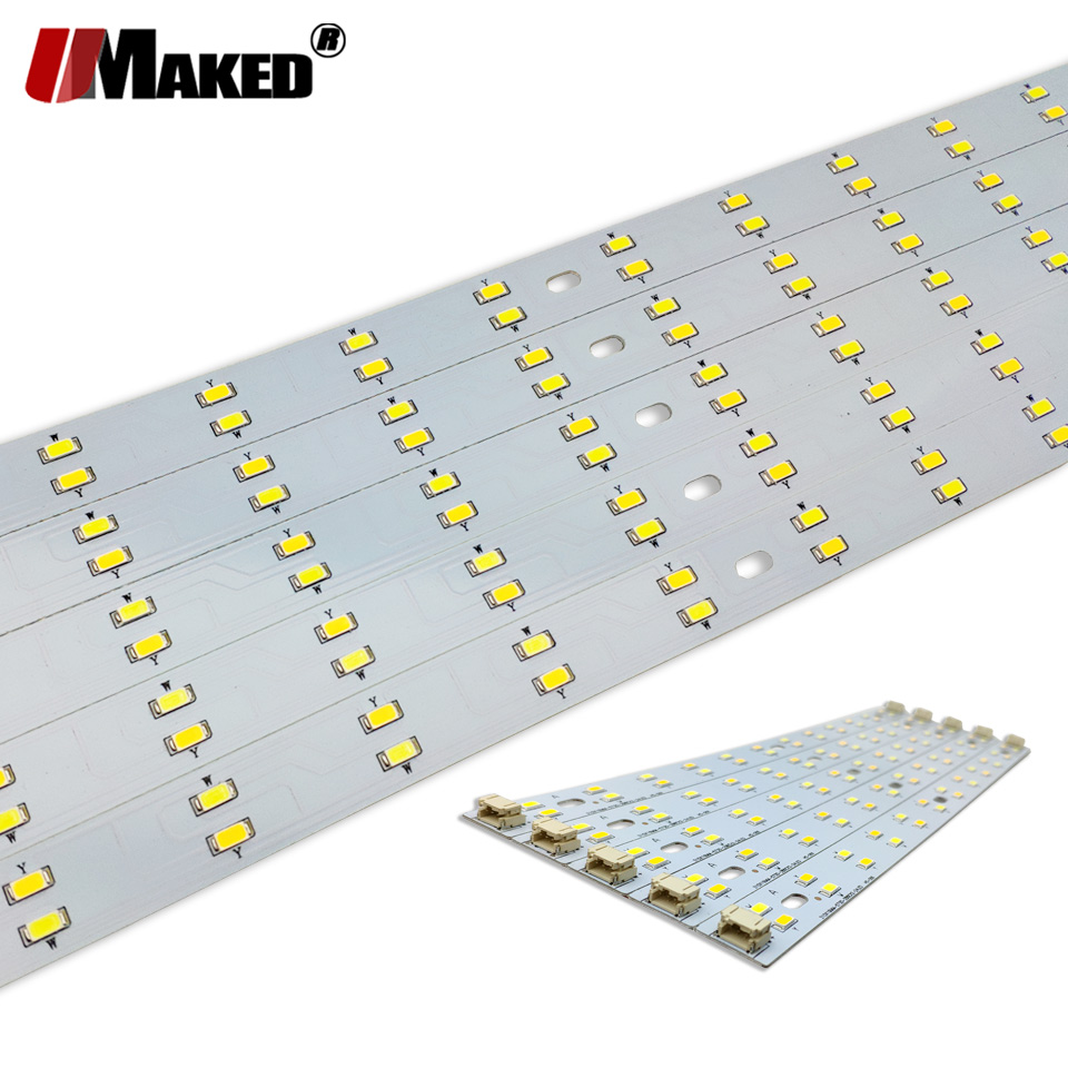LED PCB 4Wx2 6Wx2 8Wx2 Changable Strip Light SMD5730 Aluminum Lamp Plate Ceiling Light Replace Tube Light Retrofit Lamp Board